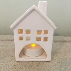Little White Ceramic Candle Holder